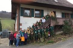 Gruppenbild Schanzenbergweiber & Domänenwaldgeister Weingut Huber in Bottenau